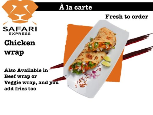 safari chicken wrap