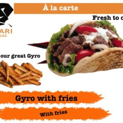 Gyro and fries